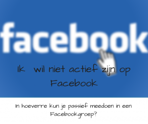 Facebook groep Jij bent de verandering